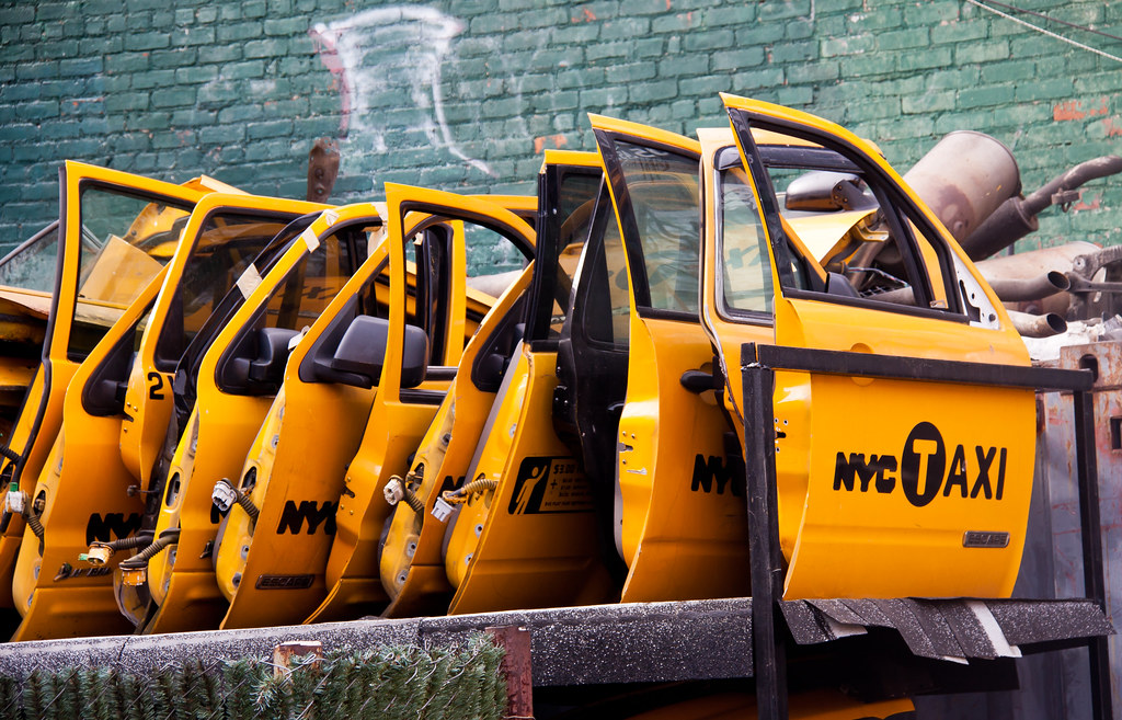 NYC Taxi Doors at Taxi Garage - Sunnyside, Queens