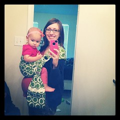 Baby wearing while pregnant! Love my new HAVA sling!