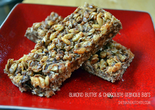 Almond Butter & Chocolate Granola Bars