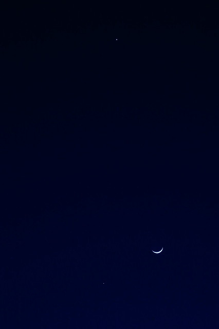 Venus Jupiter and the Moon
