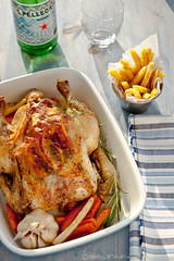 Slow Roasted Grappa Garlic and Lemon Pepper Chicken by Meeta K. Wolff