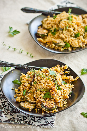 Quinoa with Courgettes & Onions