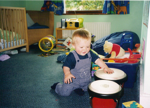 Baby Cam drumming