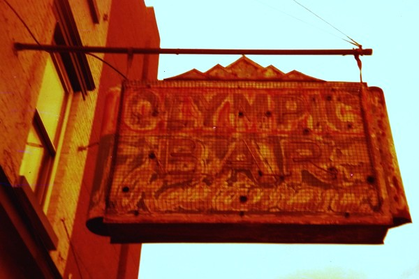 Olympic Bar, redscale film