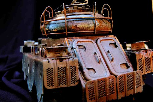 """Iron coffin"" Hand build pre world war II ""heavy tank""* model"