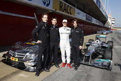 Christian Vietoris, Roberto Merhi, Robert Wickens, Michael Schumacher DTM 2012