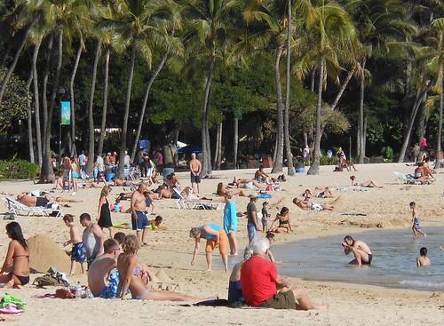 Just Another Honolulu Beach Scene