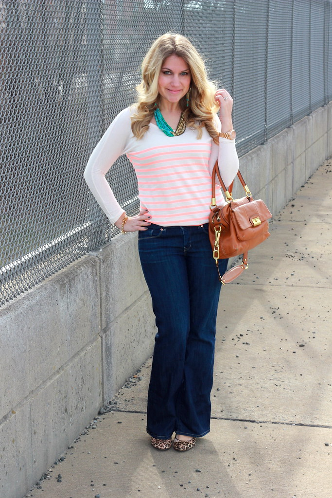 neon stripes casual outfit
