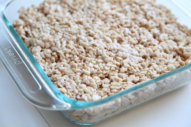 Rice Krispie Treats in the Pan
