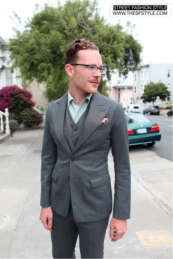 jamessuit3 three piece suit, man morsel monday,  suits, street fashion style, san francisco,