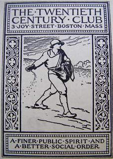 Twentieth Century Club, Boston, 1894-1969. Bookplate, c. 1911.