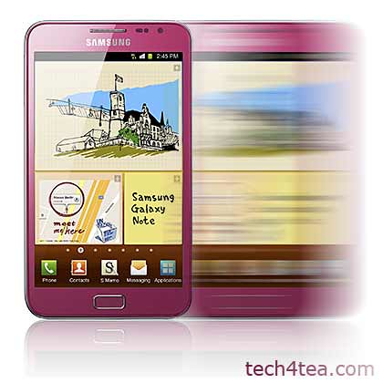 The PINK Samsung Galaxy Note hits Singapore shelves this Saturday (14 April).