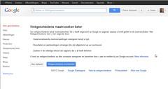 Google Webgeschiedenis