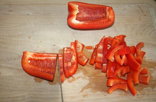 16 - Paprika schneiden / Cut paprika