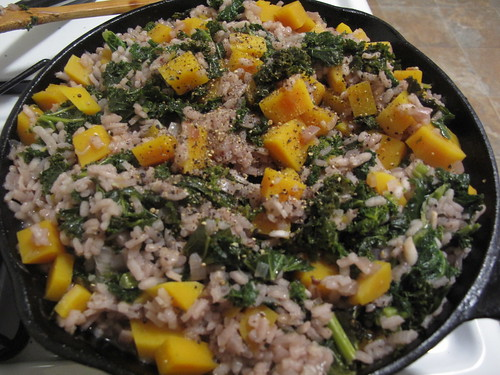 [Cooked] Butternut kale risotto