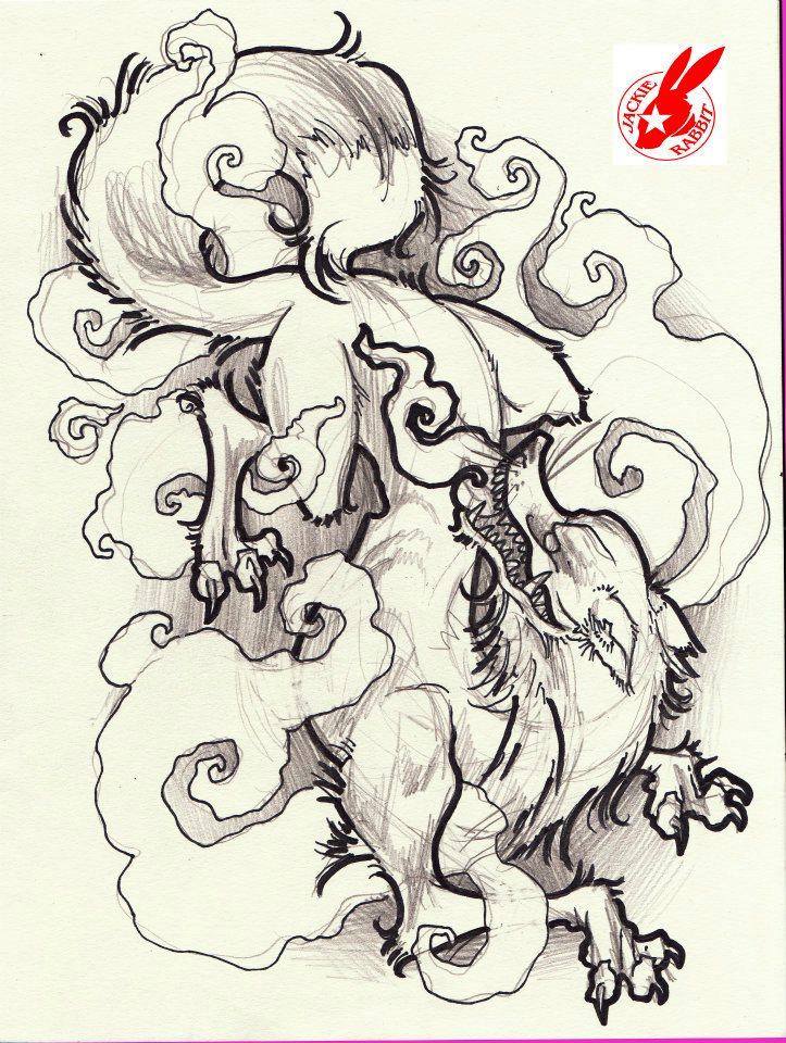 Japanese Rabbit Tattoo Japanese Fox Demon Tattoo