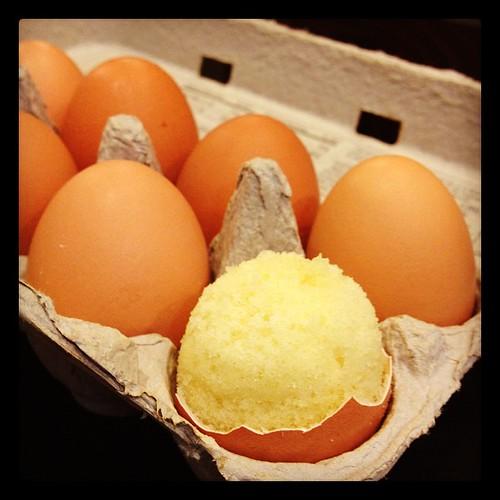 Egg cupcake