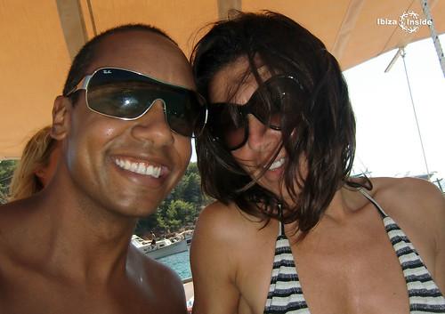 Marisa en Virgil on a boat trip in Ibiza