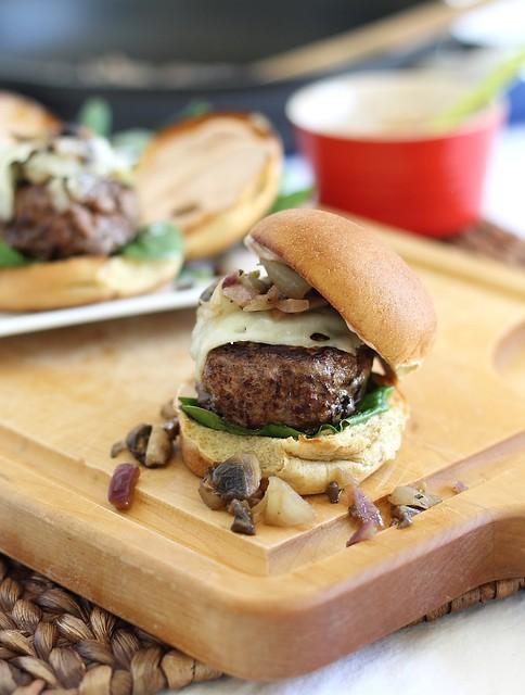 Swiss mushroom beef sliders