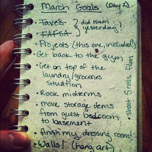 #30lists #day2 march goals
