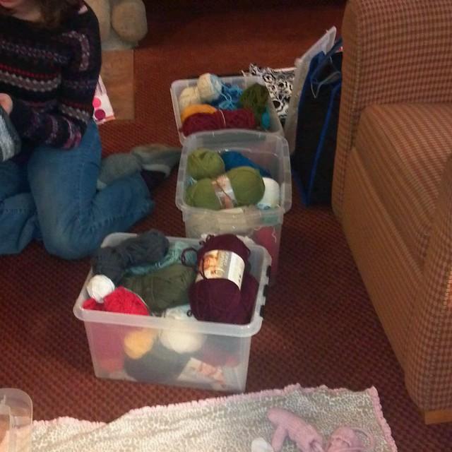 Crocheting ...