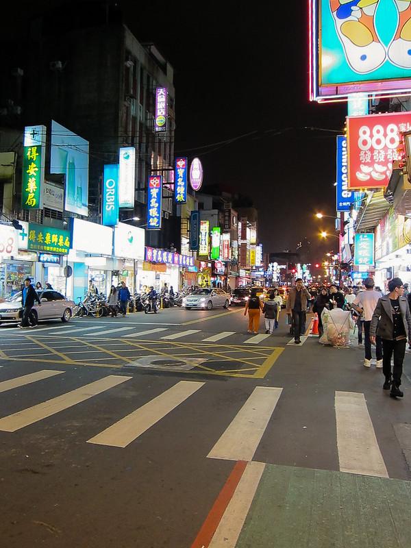 Taiwan's Shilin Market street