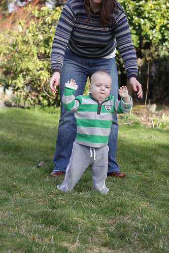 He's walking!
