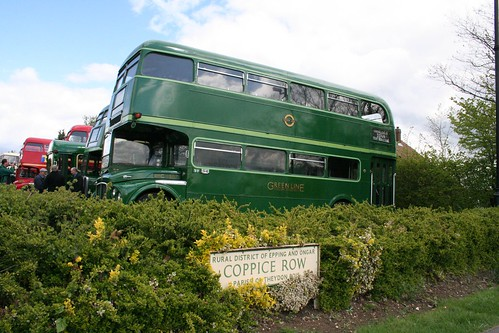 Vintage buses at Theydon Bois