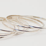 Thumbnail image for SOLD OUT – Sterling Silver Small Size Bangle Bracelets for Sale