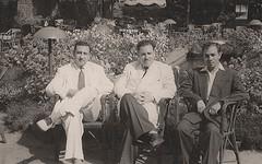مامون القعياتي والسباعي و الاميري  - الاسكندرية - 14 أيار 1953