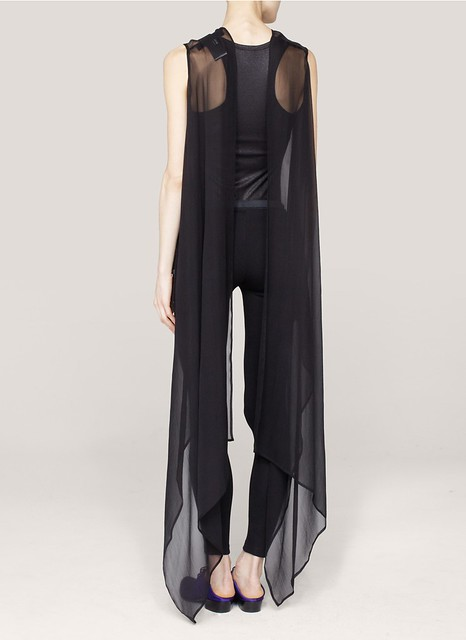 Haider Ackermann Silk-chiffon sleeveless top