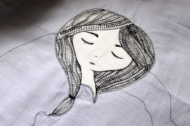 Saturday -- Machine Sketch Stitching