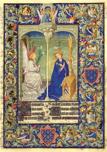002-La Anunciacion-Belles Heures of Jean de France duc de Berry-Folio 30r- ©The Metropolitan Museum of Art