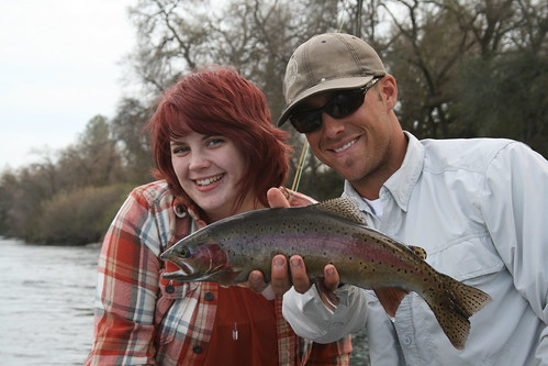 Lower Sacramento River - Alison's First Trout on the Fly!