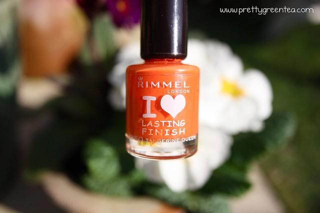 Orange Rimmel Nail Varnish