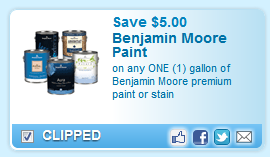 Benjamin Moore Premium Paint Or Stain , One Gallon Coupon