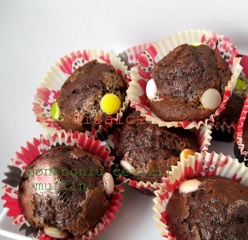 cevizli bonibonlu muffin