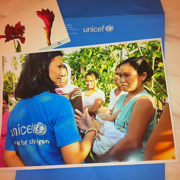My UNICEF family sent me the loveliest present. A photo from our trip to Sarangani, Mindanao. #UNICEF