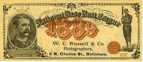 Baltimore baseball note front