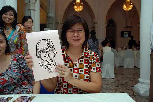 caricature live sketching for Intel Mobile Communications Year-End celebrations - 2