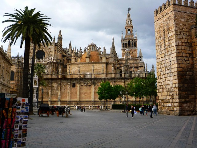 Sevilla Kathedrale Stil Besucher Andalusien