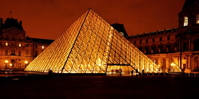 The Glass Pyramid, Louvre Museum, Paris