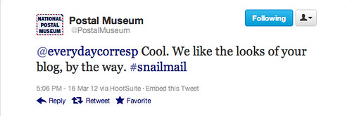 Postal Museum Tweet