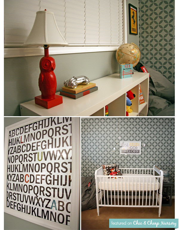 Baby Boy Room: Gray Vintage Nursery 2