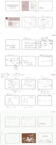 Skizzen zum Entwurf einer Präsentation
