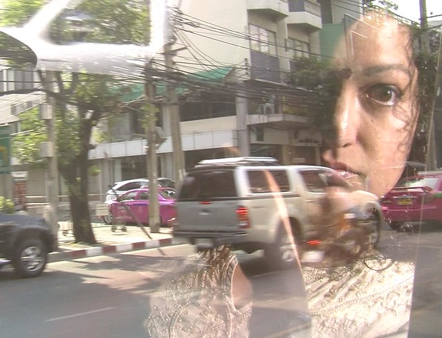 Maya Jafer in a Bangkok Taxi