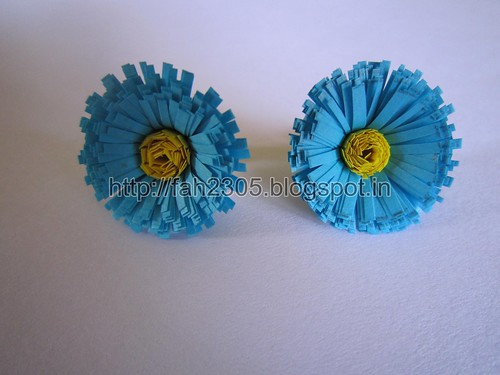 Handmade Jewelry -  Paper  Fringed Flower Studs (1) by fah2305