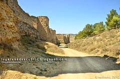 Acceso al Castillo Mayor de Calatayud (Zaragoza, España)