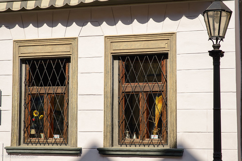 windows and lamp, Kosice
