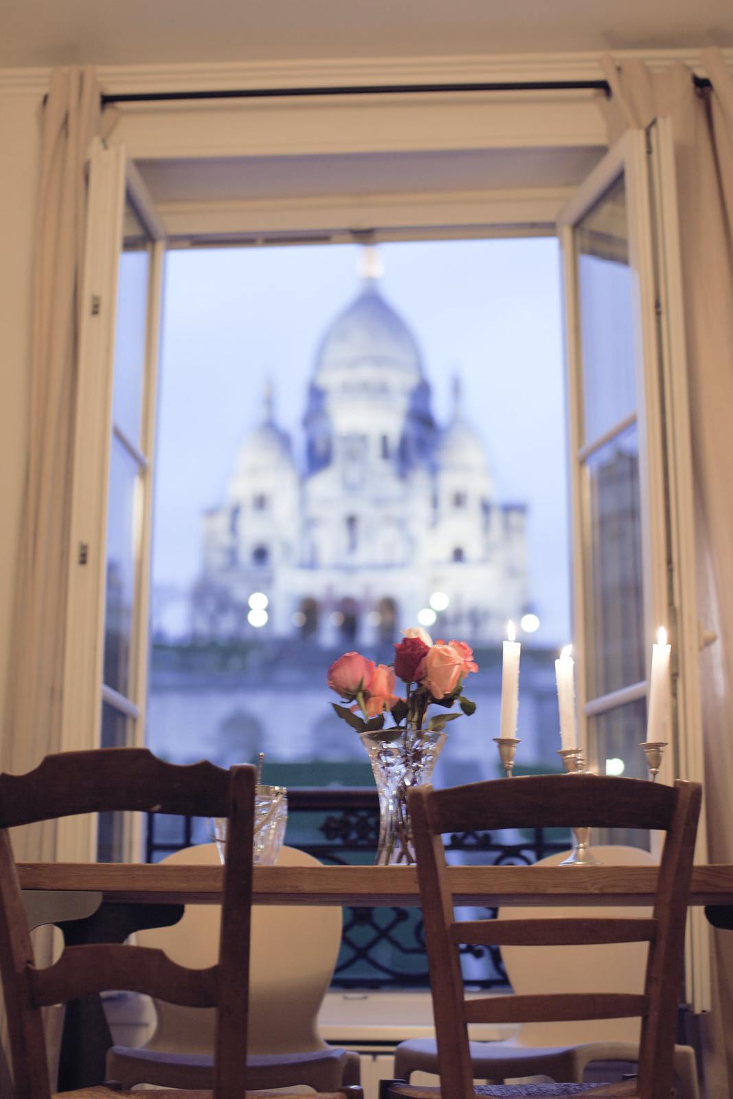 paris apartment with a view of the sacre coeur